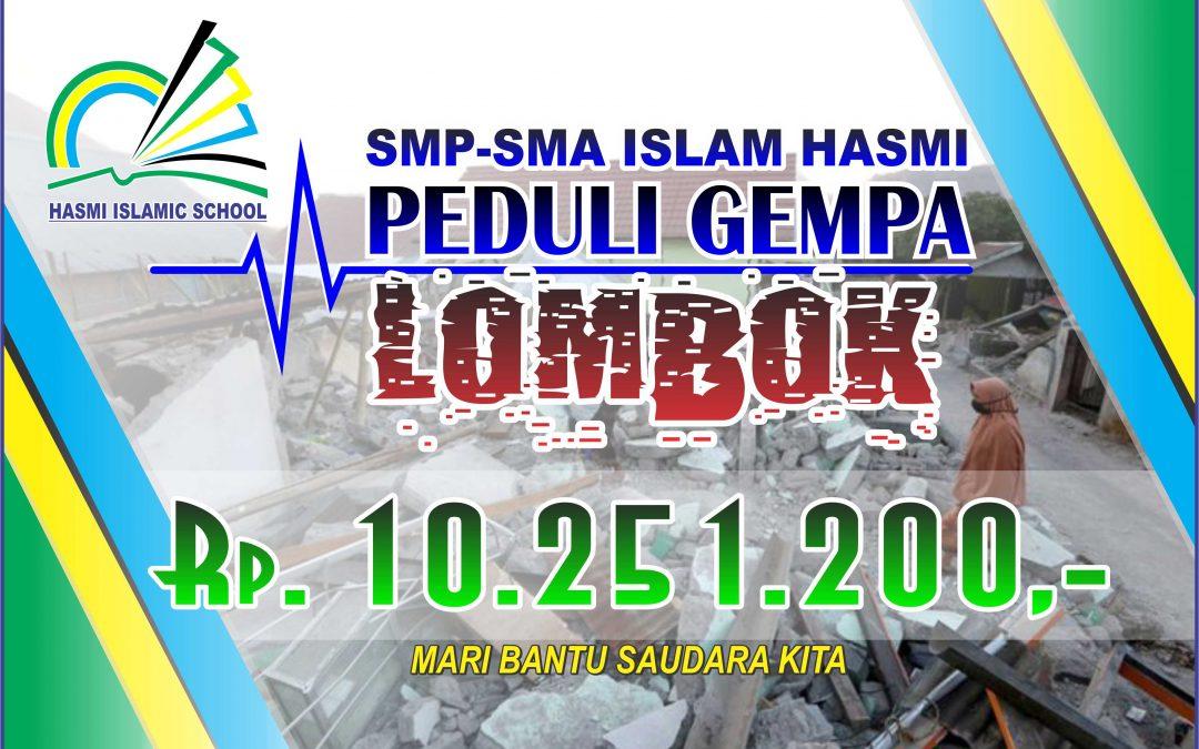 SMP-SMA ISLAM HASMI Peduli Gempa Lombok